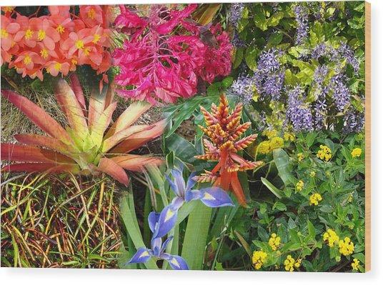 Confluent Flowers 6 Wood Print