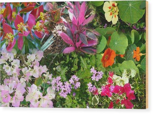 Confluent Flowers 7 Wood Print
