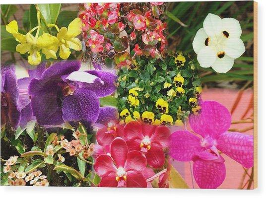 Confluent Flowers 9 Wood Print