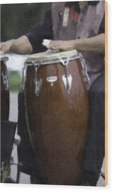 Congas Wood Print