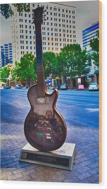 Congress Avenue Sixth String Wood Print