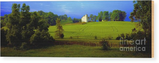 Conley Road Farm Spring Time Wood Print