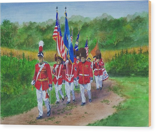 Connecticut Governor's Foot Guard Wood Print