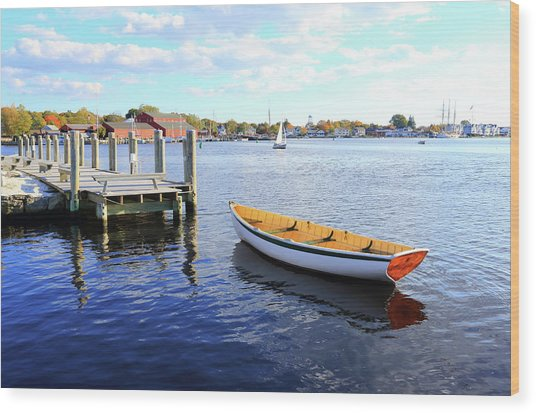Connecticut Mystic Seaport Wood Print