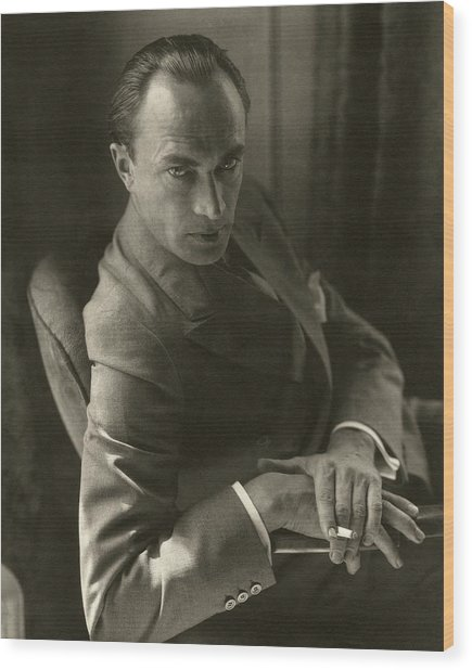 Conrad Veidt Smoking Wood Print