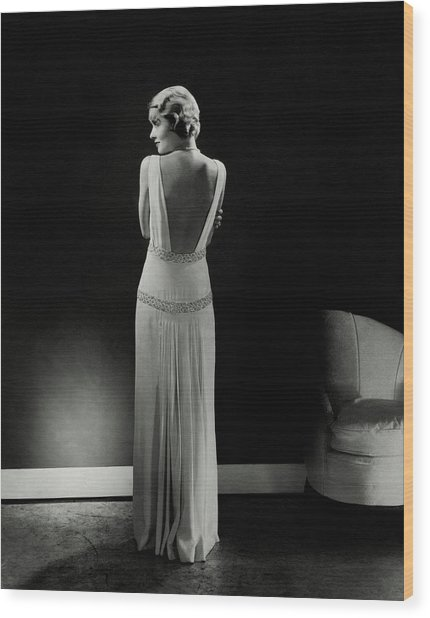 Constance Bennett As Seen From Behind Wood Print