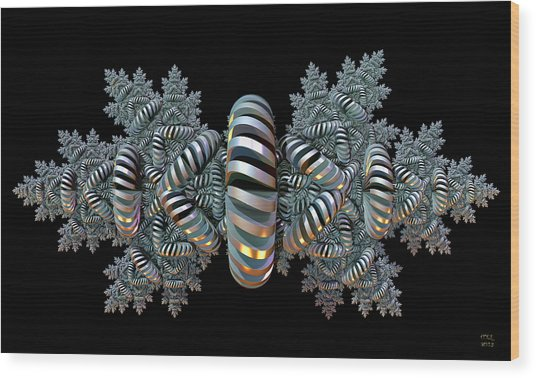 Constraints - A Fractal Artifact Wood Print