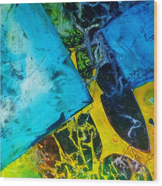 Contempo Seven Wood Print by David Raderstorf