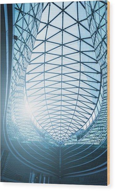 Contemporary Architecture In Milan Wood Print by Cirano83