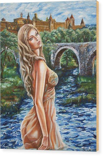 Contessa De Carcassonne Wood Print