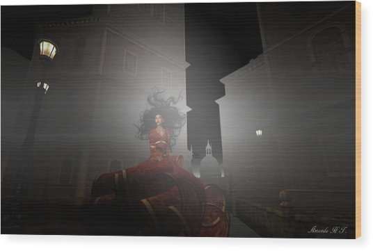 Contessa Vampiro Fuggire L'alba - Flee The Dawn Wood Print