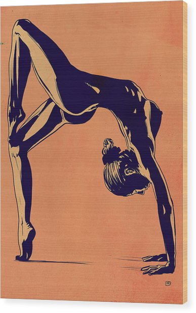 Contortionist Wood Print by Giuseppe Cristiano