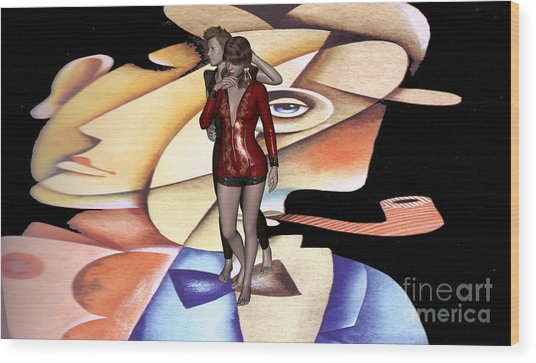 Contradictory Complementarity Of Humans2 Wood Print