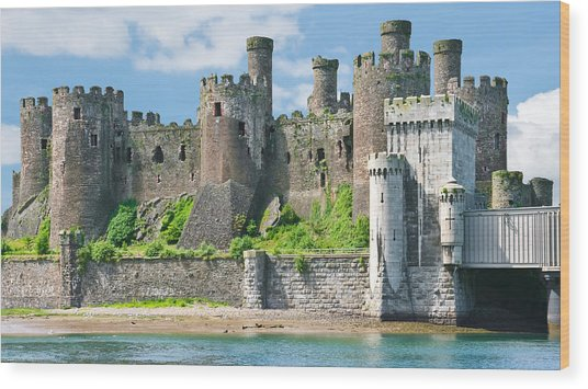 Conwy Castle Wales Wood Print
