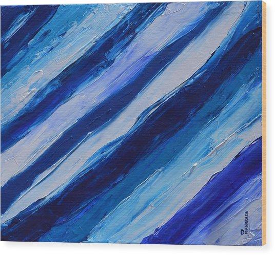 Cool Azul Wood Print