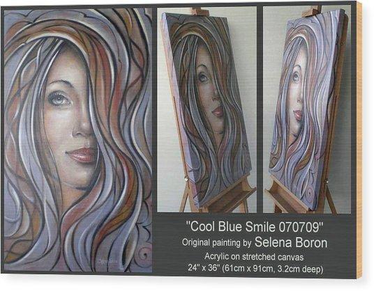 Cool Blue Smile 070709 Comp Wood Print