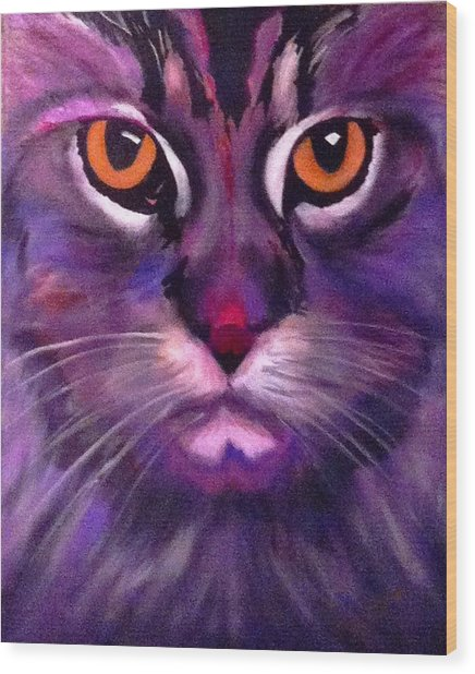 Cool Maine Coon Wood Print