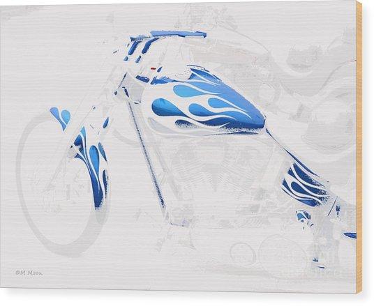 Cool Motorcycle Wood Print