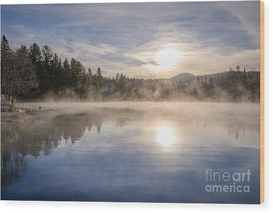 Cool November Morning Wood Print