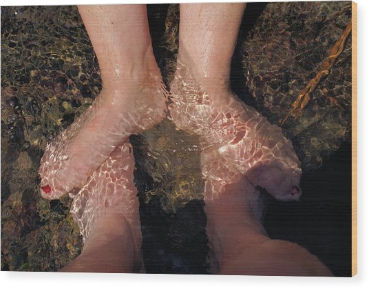 Cooling The Feet Wood Print