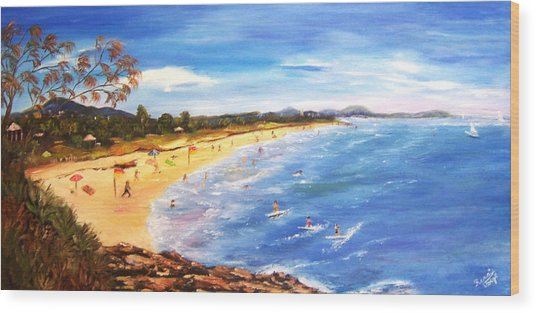Coolum Beach Wood Print