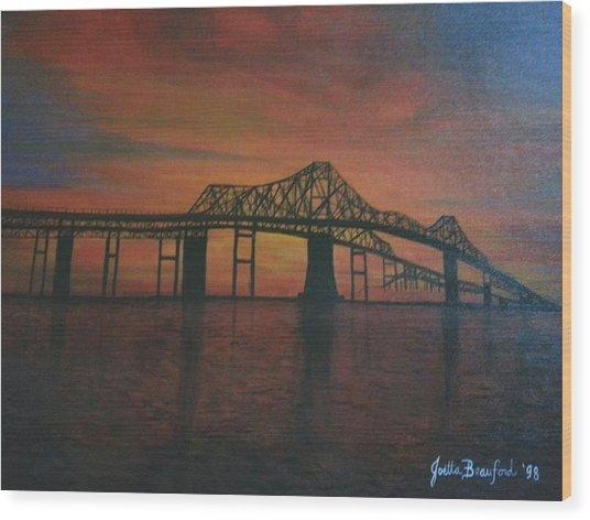 Cooper River Bridge Memories Wood Print
