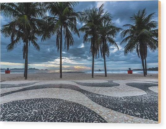 Copacabana Wood Print by Marcelo Freire Photography