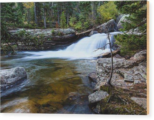 Copeland Falls Rockies Wood Print