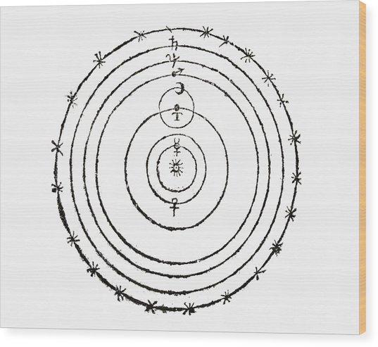 Copernican Cosmology Wood Print