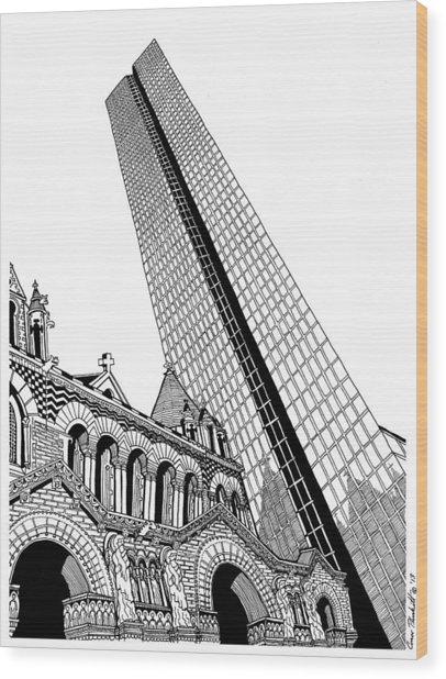 Copley Square - Boston Wood Print