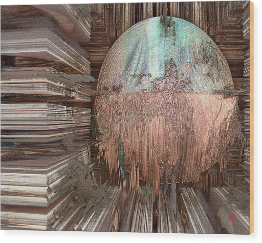 Copper Ball Wood Print by David Jenkins