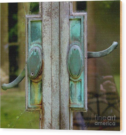 Copper Doorknobs Wood Print