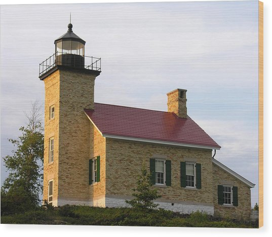 Copper Harbor Michigan Lighthouse Wood Print