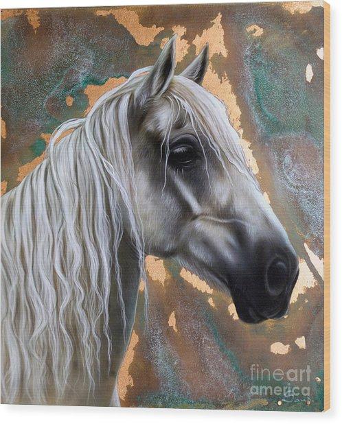 Copper Horse Wood Print