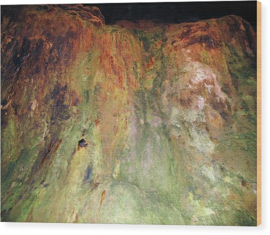 Copper Mine Deposit Wood Print by Cordelia Molloy/science Photo Library