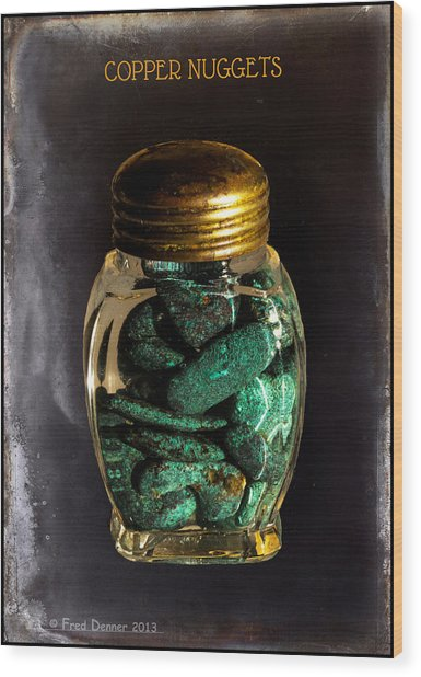 Wood Print featuring the photograph Copper Nuggets by Fred Denner