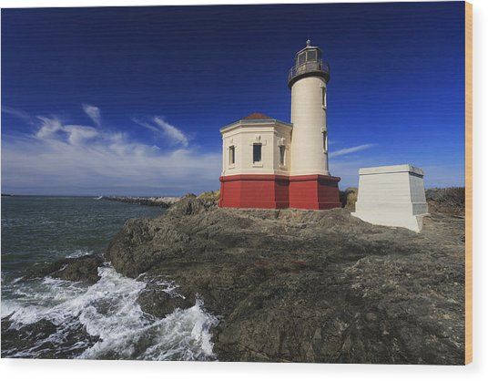 Coquille River Lighthouse 3 Wood Print