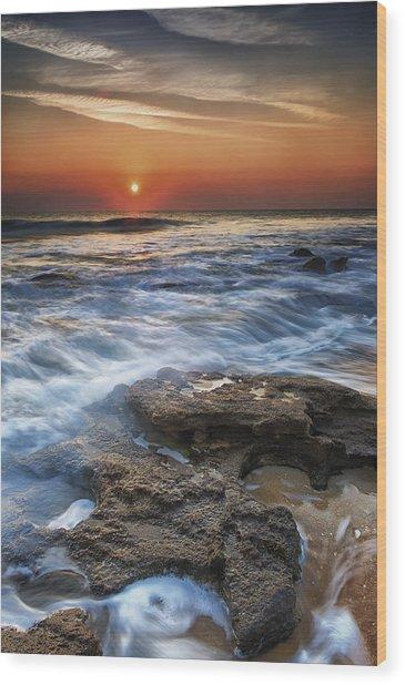 Coquina Sunrise II Wood Print