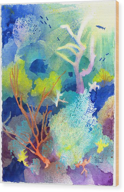 Coral Reef Dreams 1 Wood Print