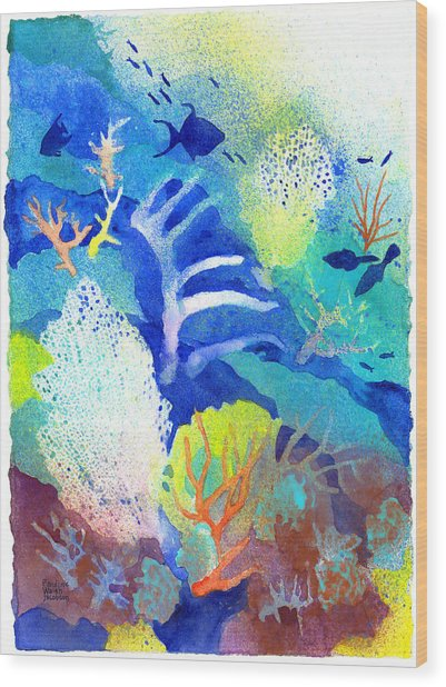 Coral Reef Dreams 3 Wood Print