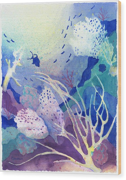 Coral Reef Dreams 4 Wood Print