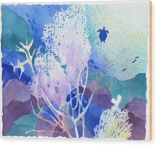 Coral Reef Dreams 5 Wood Print