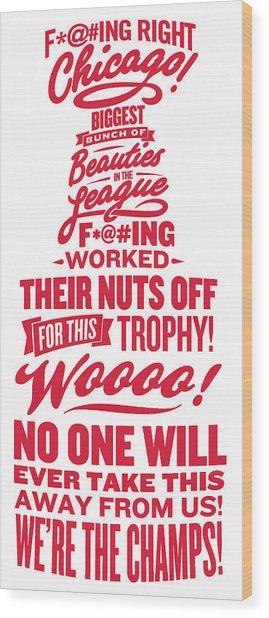 Corey Crawford Cup Speech Wood Print