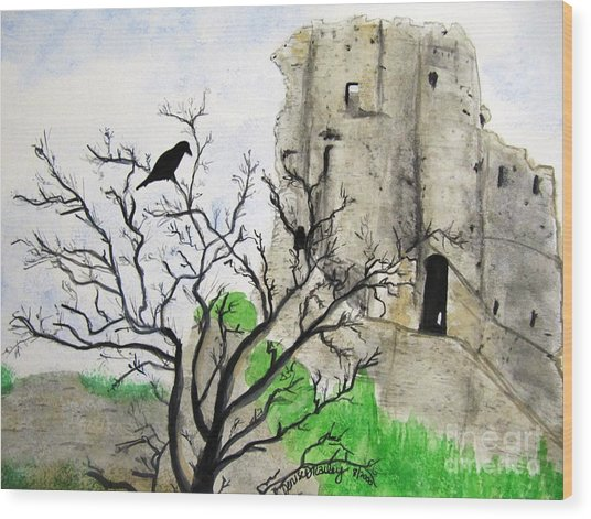 Corfe Castle And Crow Wood Print