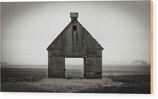 Corn Crib #2 Wood Print