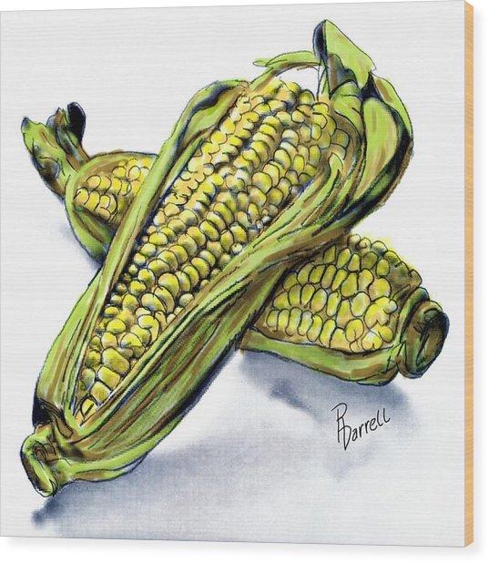 Corn Study Wood Print
