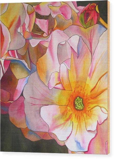 Cornelia Rose Wood Print by Sacha Grossel