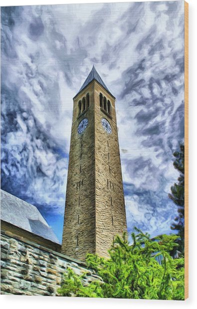 Cornell Clock Tower  Wood Print