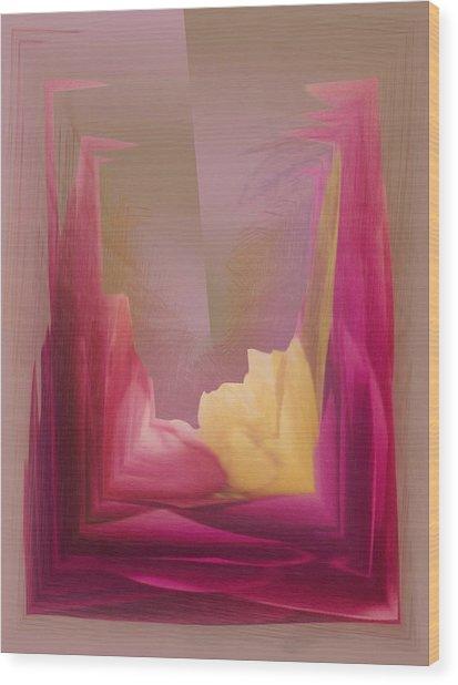 Cornered Yellow Rose Wood Print