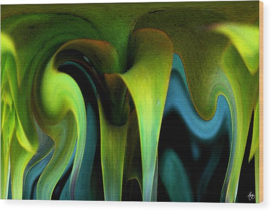 Cornflower Abstract No1 Wood Print